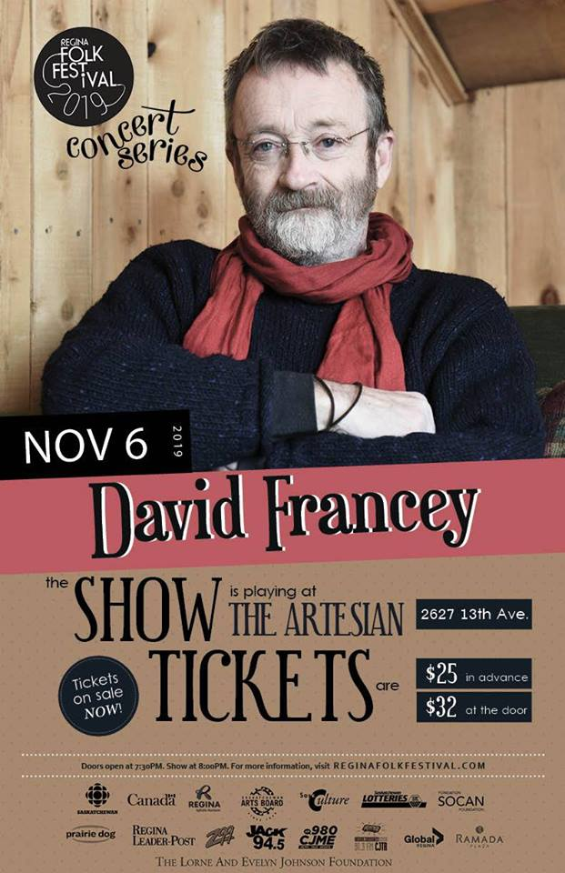 David Francey presented by Regina Folk Festival