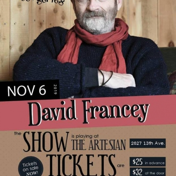 David Francey presented by Regina Folk Festival
