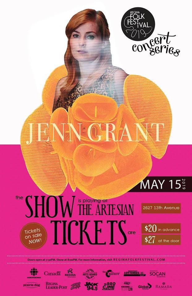 Jenn Grant Presented by the Regina Folk Festival
