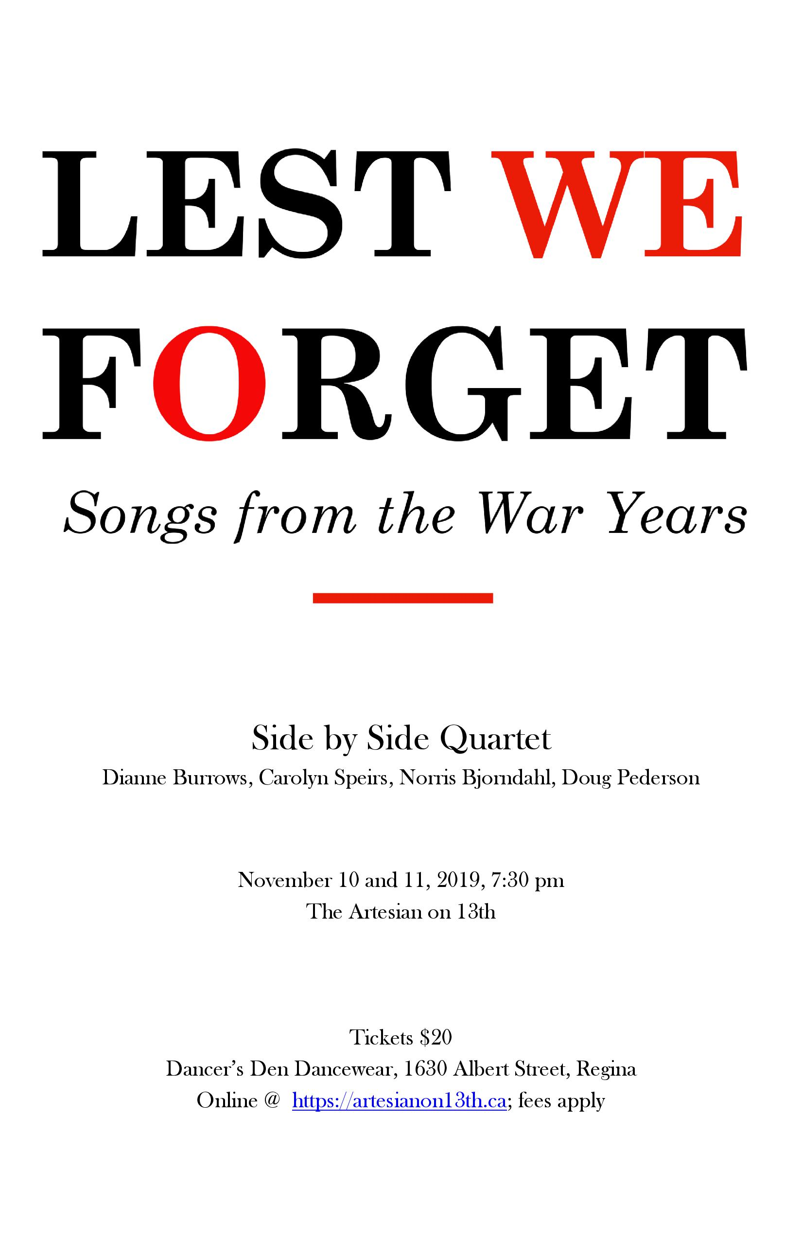 Lest We Forget - Songs From the War Years