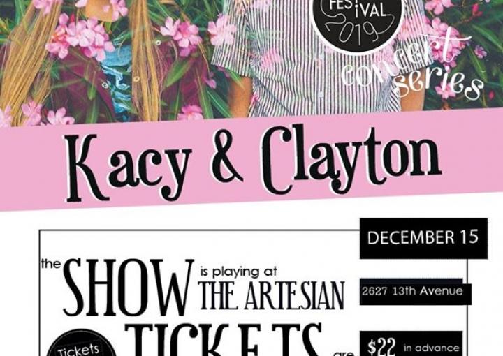 Regina Folk Festival presents Kacy & Clayton with Ellen Froese