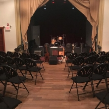 Beautiful stage set up on the floor for AndersonBurko tonight. Doors at 7, music at 8, tickets are $20. Come join us won't you?